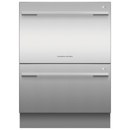 Fisher & Paykel 600mm Double DishDrawer Dishwasher 14 Place Settings Sanitise DD60DDFX9