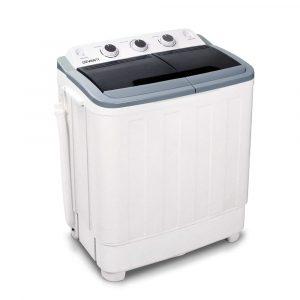 Devanti 5KG 30L Twin Tub Portable Washing Machine White PWM-T-98-WH