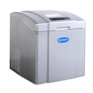 Devanti 3.2L Portable Ice Cube Maker Machine Silver IM-ZB-07-SR