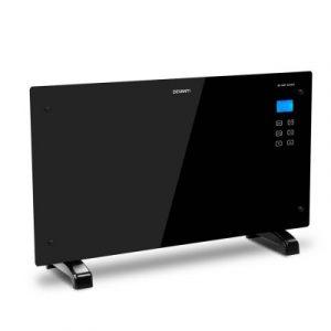 Devanti 2000W Portable Electric Panel Heater - Black Glass CHP-GLASS-2000-BK