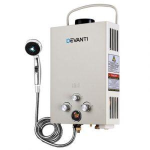 Devanti Portable Gas Hot Water Heater and Shower GWH-LPG-8L-SW-BG-DI