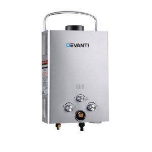 Devanti Outdoor Gas Water Heater with Shower GWH-LPG-8L-SW-SR-DI
