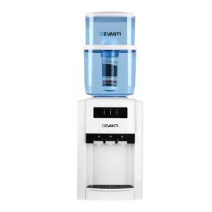 Devanti 22L Bench Top Water Cooler Dispenser Filter Purifier Hot Cold Room Temperature Three Taps WD-1103-22L-WH