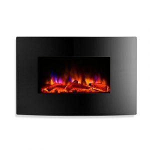 Devanti EFL-B-159-2000-BK 2000W Wall Mounted Electric Fireplace