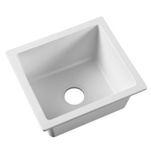 Cefito Granite Stone Kitchen Laundry Sink Bowl Top or Under mount 460x410mm White SINK-STONE-4641-WH