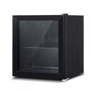 Devanti 46L Glass Door Bar Fridge Mini Countertop Freezer BF-D-46L-BK