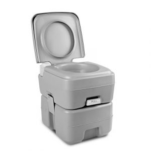 Weisshorn 20L Portable Outdoor Camping Toilet Grey CAMP-TOILET-20L-T