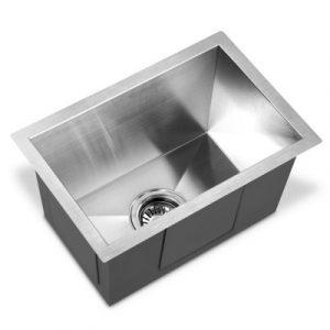 Cefito 450X300MM Stainless Steel Kitchen Sink Under/Topmount Sinks Laundry Bowl Silver SINK-3045-R010