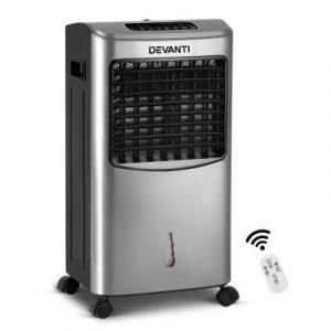 Devanti Portable Evaporative Air Cooler - Silver EAC-03-RC-SI
