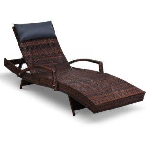 Gardeon Outdoor Sun Lounge Furniture Day Bed Wicker Pillow Sofa Set FF-LOUNGE-ARM-P-BR