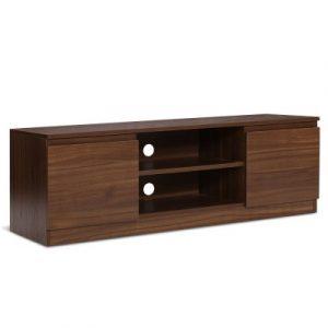 Artiss TV Cabinet Entertainment Unit Stand Side Storage Lowline Cupboard Walnut FURNI-C-GBTV-120-WD