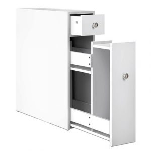 Bathroom Storage Cabinet White FURNI-G-TIS382-WH