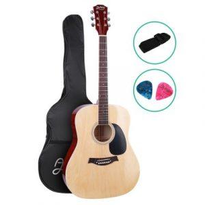 Alpha 41 Inch Wooden Acoustic Guitar Natural Wood GUITAR-D-41-NAT