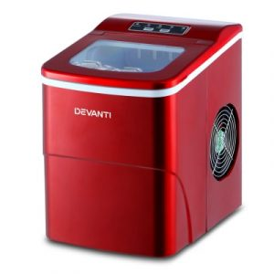 Devanti Portable Ice Cube Maker Machine 2L Home Bar Benchtop Easy Quick Red IM-ZB-12B-RED