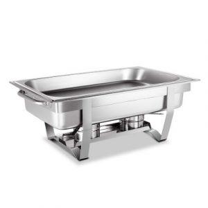 Emajin 9L Bain Marie Bow Chafing Food Buffet Warmer LF-DIN-DISH-9L-1PAN-SI