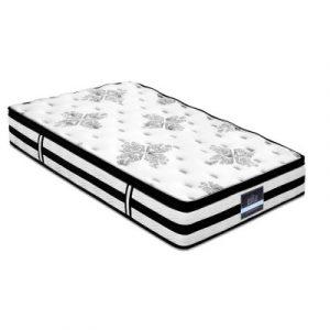 Giselle King Single Bedding Algarve Euro Top Pocket Spring Mattress 34cm Thick MATTRESS-0908-KS