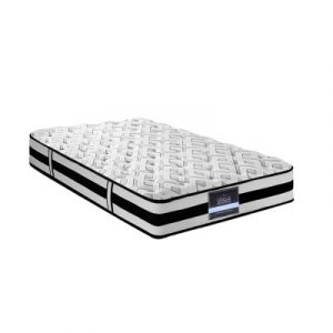 Giselle Single Size Bedding Rumba Tight Top Pocket Spring Mattress 24cm Thick MATTRESS-FIRM-024-S