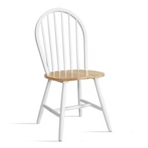 2x Artiss Dining Chairs Kitchen Chair Rubber Wood Retro Cafe White Wooden Seat MO-MA-DIN-WC1-NT-WHX2