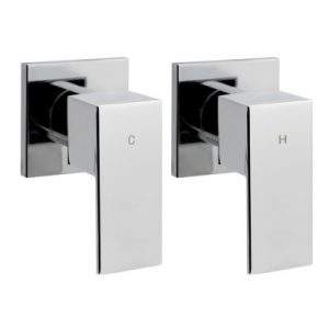 Bathroom Taps Faucet Rain Shower Head Set Hot And Cold Diverter DIY Chrome SHOWER-A2-TAP-SI