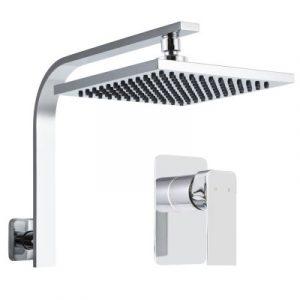 Cefito WElS 8'' Rain Shower Head Mixer Square High Pressure Wall Arm DIY Chrome SHOWER-A3-SQ-8-SI-MIXER
