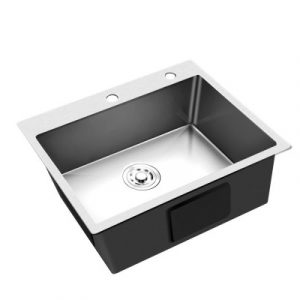 Cefito 600x450MM Single Bowl Sink With Laundry Strainer SINK-EC-6045-SI