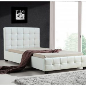 King Single PU Leather Deluxe Bed Frame White V63-819253