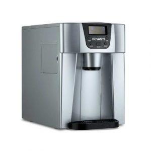 Devanti 2L Portable Ice Cuber Maker & Water Dispenser - Silver IM-ZB12E-SR