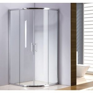 Rounded Sliding Curved Shower Screen 6mm Toughened Glass with Base V63-817403