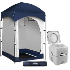 WEISSHORN 20L Outdoor Portable Toilet Camping Shower Tent Change Room Ensuite CAMP-TOILET-20L-T-CR-SIN