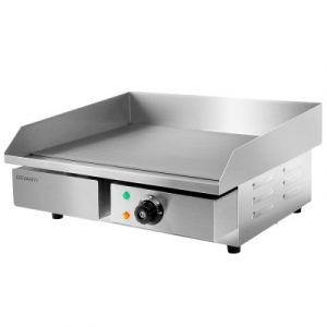 Devanti 3000W Electric Commercial Griddle Hot Plate - Stainless Steel CEG-D5C-SINGLE