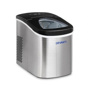 Devanti 2.4L Stainless Steel Portable Ice Cube Maker IM-ZB12A-SS