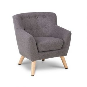 Keezi Kids Sofa Armchair Grey Linen Lounge Nordic French Couch Children Room KID-CHAIR-A5-GY