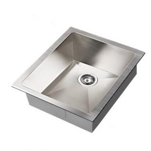 Cefito 390 x 450mm Stainless Steel Sink Under/Topmount Sinks Laundry Bowl Silver SINK-3945-R0-SI