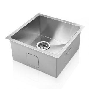 Cefito 440X440MM Stainless Steel Kitchen Sink Under/Topmount Sinks Laundry Bowl Silver SINK-4444-R010