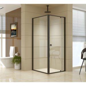 Semi Frameless Shower Screen (74~82)x 195cm & (89~92)x 195cm Side AS/NZS Glass V63-824471