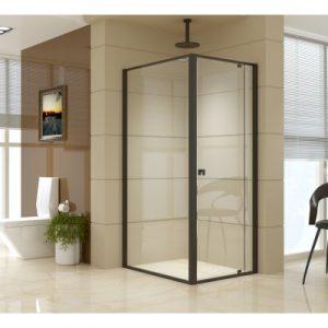 Semi Frameless Shower Screen (74~82)x 195cm & (98~101)x 195cm Side AS/NZS Glass V63-824481