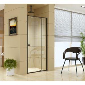 Adjustable Semi Frameless Shower Screen (82~90) x 195cm Australian Safety Glass V63-824491