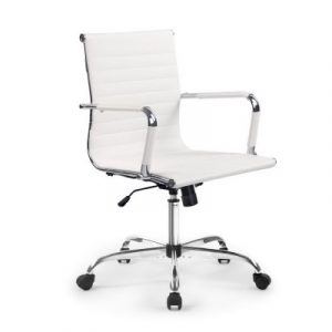 Artiss Gaming Office Chair Computer Desk Chairs Home Work Study White Mid Back OCHAIR-H-8147-WH