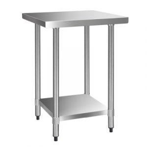 Cefito 610 x 610m Commercial Stainless Steel Kitchen Bench SSKB-430S-24