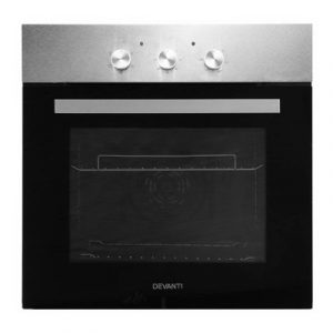Devanti 60cm Electric Oven Built in Wall Forced Grill Stainless Steel Convection BIO-B-5F-BG2M-SS-BK