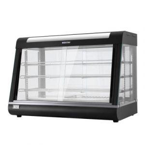 Devanti Commercial Food Warmer Electric Hot Display Pie Showcase Stainless Steel CFW-900-BK
