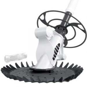Aquabuddy Pool Cleaner Swimming Cleaning Automatic Floor Climb Wall Grey And White PO-CL-WIND-GREY-DIA