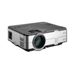Devanti Mini Video Projector Portable HD 1080P 1200 Lumens Home Theater USB VGA 1080P VP-812-BK