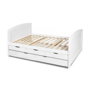 Artiss Single Wooden Trundle Bed Frame Timber Kids Adults WBED-D-T3-92-AB
