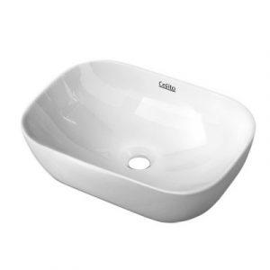 Cefito Ceramic Bathroom Basin Sink Vanity Above Counter Basins White Hand Wash CB-074-WH
