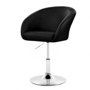 Artiss Bar Stools Accent Chairs Kitchen Bar Stool Swivel Gas Lift Leather Black BA-K-0787-BK