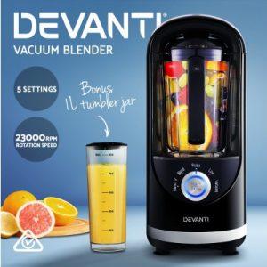 Devanti Commercial Vacuum Blender Juicer Mixer Food Processor Smoothie Black VCB-801-BK