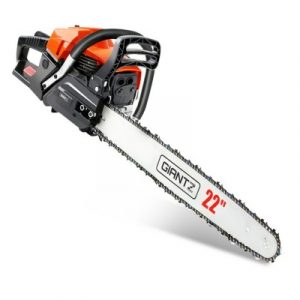 GIANTZ 58cc Commercial Petrol Chainsaw 22 Bar E-Start Chains Saw Tree Pruning CSAW-FE-22-OGBK