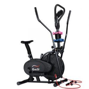 Everfit 6in1 Elliptical Cross Trainer Exercise Bike Bicycle Home Gym Fitness Machine Running Walking EB-F-ELLI-01-6IN-BK