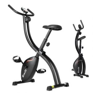 Everfit Exercise Bike X-Bike Folding Magnetic Bicycle Cycling Flywheel Fitness Machine EB-F-XB-01-BK